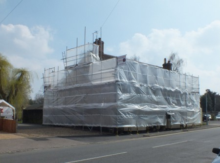 scaffolding-sheeted