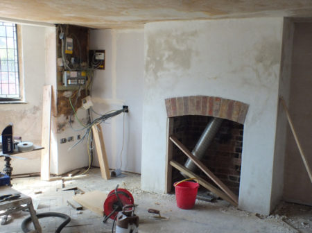 fireplace-plastered